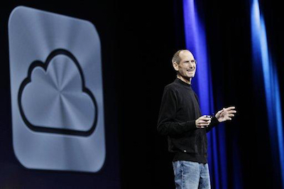 Thomas Frey Futurist Speaker Steve Jobs introducing iCloud