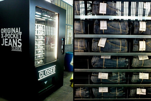 Thomas Frey Futurist Speaker Closed, a jeans brand in Italy, unveils their vending machine