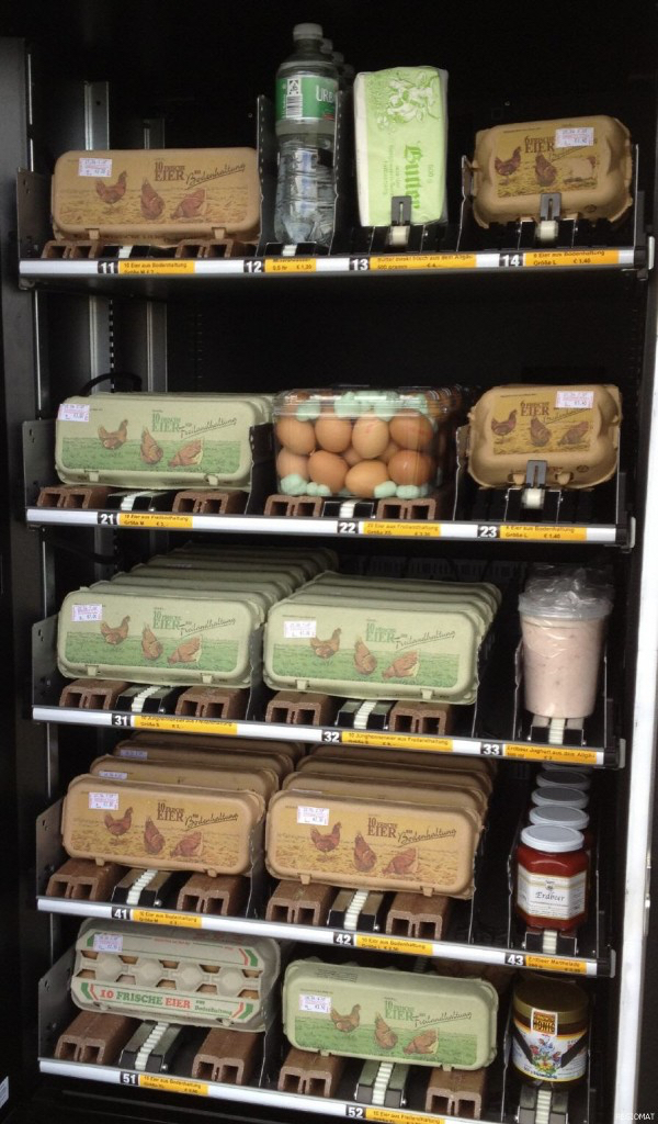Thomas Frey Futurist Speaker Grocery store vending machine that dispenses eggs