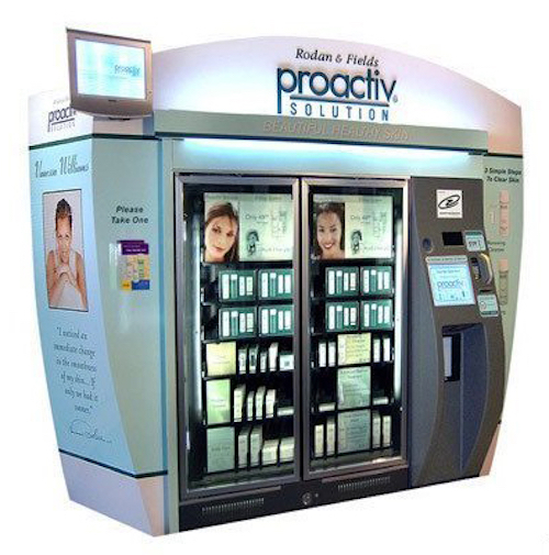 Thomas Frey Futurist Speaker Rodam & Fields makeup and cosmetic vending machine