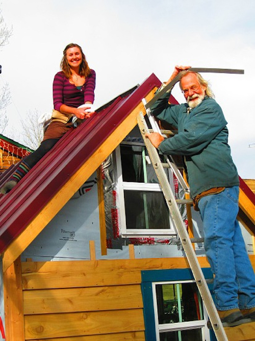Thomas Frey Futurist Speaker Ella Jenkins and her father building her home