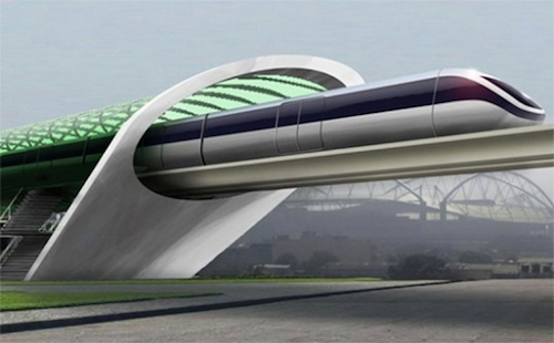Thomas Frey Futurist Speaker Hyperloop station