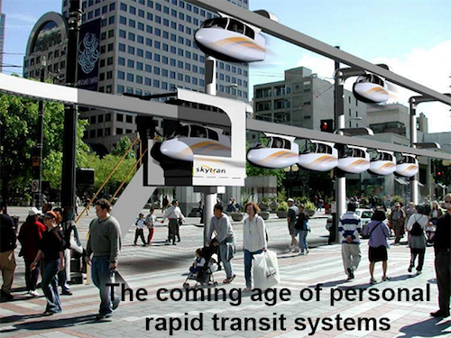 Thomas Frey Futurist Speaker the next bold step in transportation personal rapid transit systems