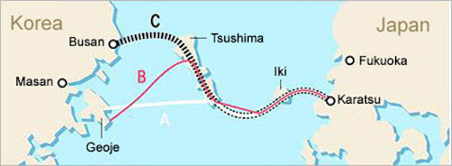 Thomas Frey Futurist Speaker Proposed route for Korea Japan Friendship Tunnel System