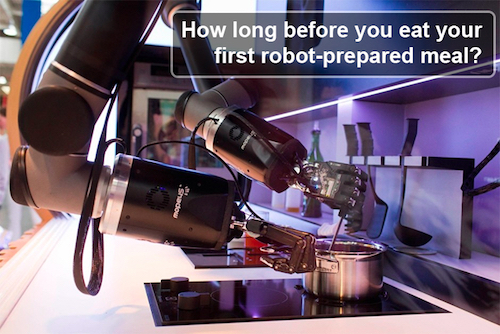 How Long Before a Robot Chef Beats an Iron Chef?