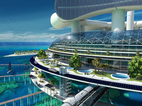 Thomas Frey Futurist Speaker Architect Richard Moreta Castillo envisions a self-sufficient eco-resort called Grand Cancun