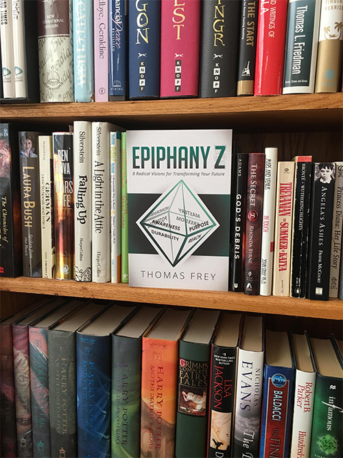 Thomas Frey Futurist Speaker Every bookshelf should have a copy of Epiphany Z, essential reading for the 21st century