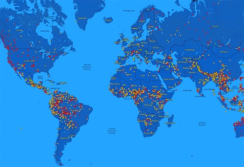 Thomas Frey Futurist Speaker Each dot represents another endangered language