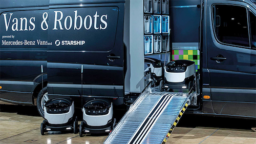 Thomas Frey Futurist Speaker Daimler is currently testing out a number of robotic delivery schemes