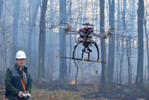 Drones are making a difference in fighting forest fires.